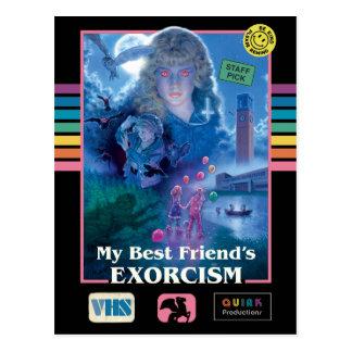 My Best Friend's Exorcism Vintage VHS Cover Postcard