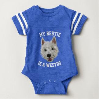 My Bestie Is A West Highland Terrier Baby Bodysuit