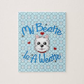 """My Bestie Is A Westie"" BOY Puzzle"