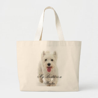 My Bestie is a Westie Large Tote Bag