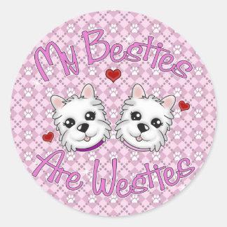 """My Besties Are Westies"" GIRLS Stickers"