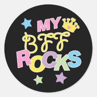 My BFF Rocks Round Sticker