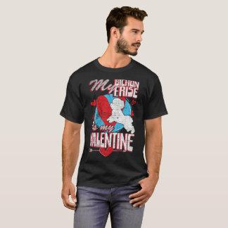My Bichon Frise Is My Valentine Funny Dog Distress T-Shirt
