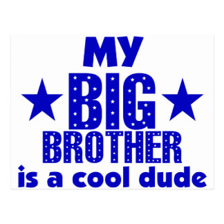 My Big Brother Is A Cool Dude Postcard