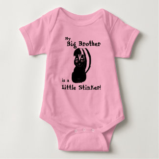 My Big Brother is a Little Stinker Baby Bodysuit