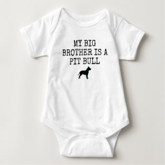 My Big Brother is a Pit Bull - Baby Bodysuit