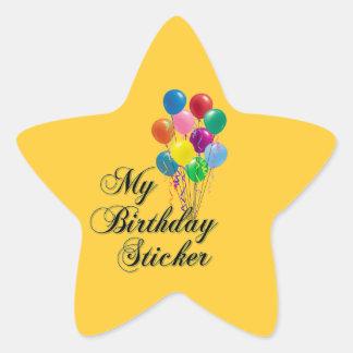 My Birthday Sticker Star Sticker