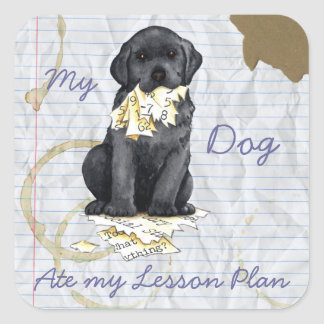 My Black Lab Ate My Lesson Plan Square Sticker