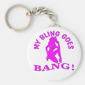 My Bling Goes BANG  2 Key Ring