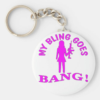 My Bling Goes BANG Key Ring