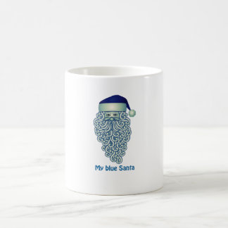 My blue Santa Christmas mug