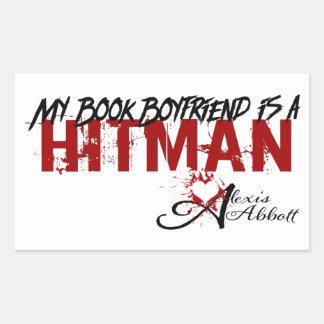 My Book Boyfriend is a Hitman Rectangular Sticker