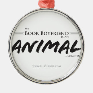My book boyfriend... Silver-Colored round decoration