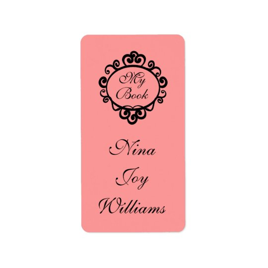 My Book Personalised Bookplate Sticker Gift