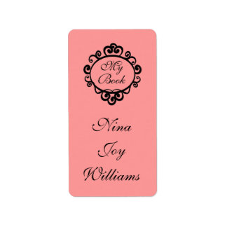 My Book Personalized Bookplate Sticker Gift Address Label