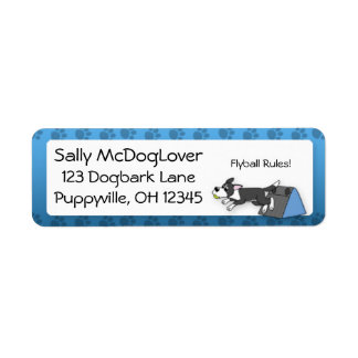 My Border Collie Loves Flyball Return Address Label