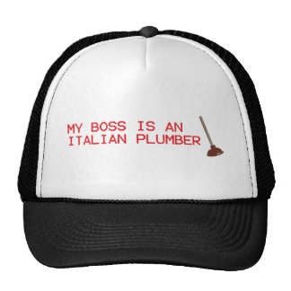 My Boss Is An Italian Plumber - Mario Video Game Hat