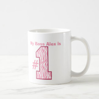My BOSS is Number One Patterned Number B01 Mugs