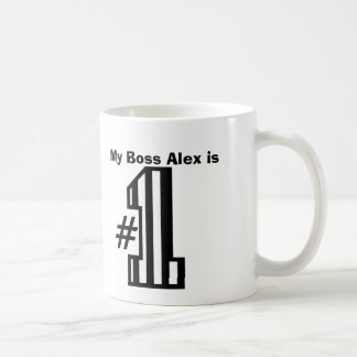 My BOSS is Number One Patterned Number B01 Coffee Mug