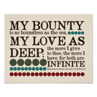 My Bounty is as Boundless as the Sea... Poster