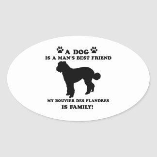 My Bouvier des Flandres family, your dog just a be Oval Sticker