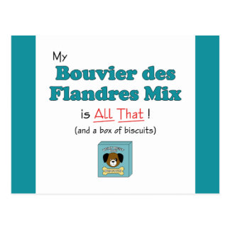 My Bouvier des Flandres Mix is All That! Postcard
