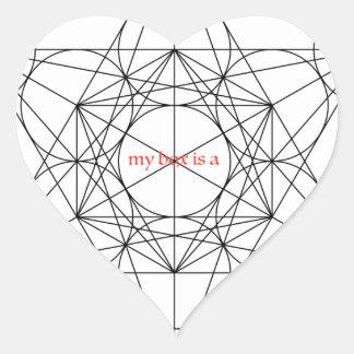 my box is a... Metatron's Cube Heart Sticker