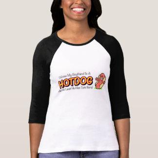My Boyfriend Is A Hotdog Ladies Shirt