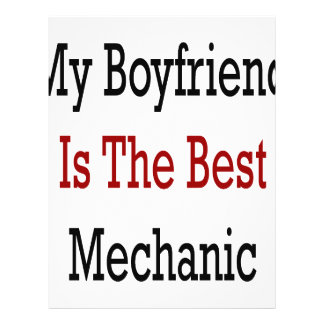 My Boyfriend Is The Best Mechanic Flyer Design