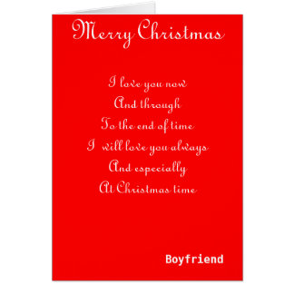 My boyfriend romantic Christmas greeting cards