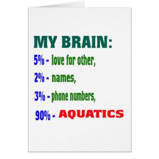 My Brain 90 % Aquatics. Cards