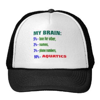 My Brain 90 % Aquatics. Trucker Hat