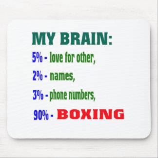My Brain 90 % Boxing Mouse Pads
