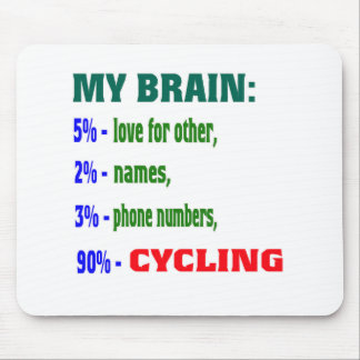 My Brain 90 % Cycling. Mouse Pad