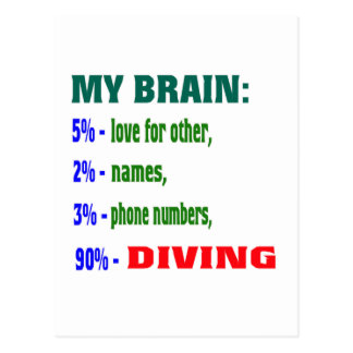 My Brain 90 % Diving. Postcards