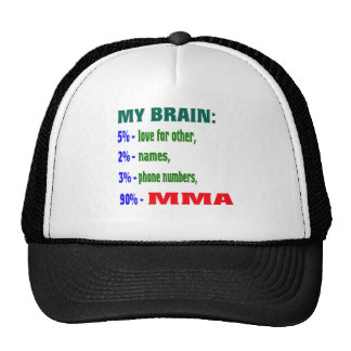My Brain 90 % MMA. Trucker Hat