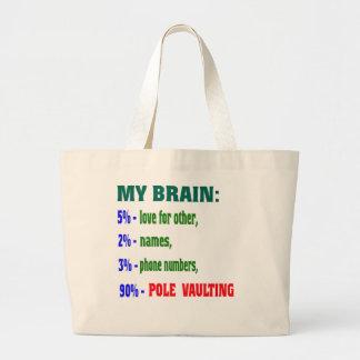 My Brain 90 % Pole Vaulting. Canvas Bags