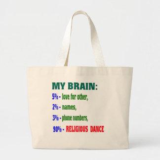 My brain 90% Religious dance Tote Bag