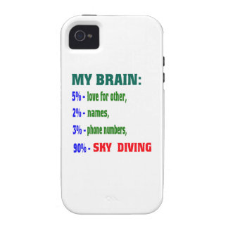 My Brain 90 % Sky Diving. iPhone 4 Cover