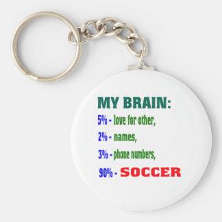 My Brain 90 % Soccer. Keychains