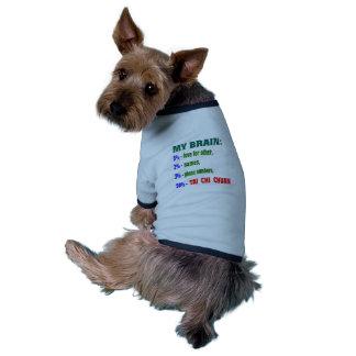 My Brain 90 % Tai Chi Chuan. Pet Shirt