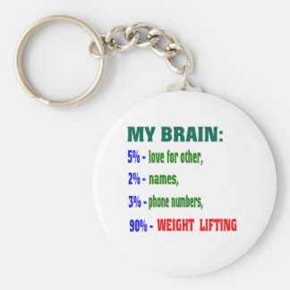 My Brain 90 % Weight Lifting Key Chains