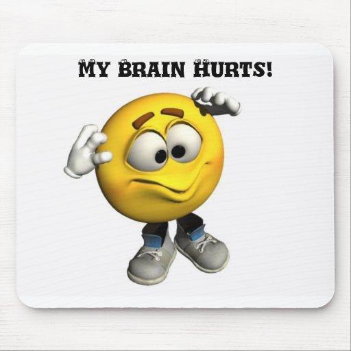 My Brain Hurts Mousepad Zazzle