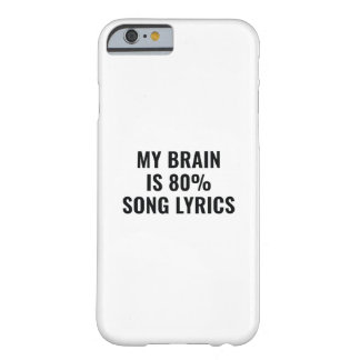 My Brain Is 80 Percent Song Lyrics Barely There iPhone 6 Case