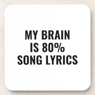 My Brain Is 80 Percent Song Lyrics Coaster