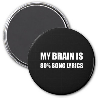 My Brain Is 80 Percent Song Lyrics Magnet