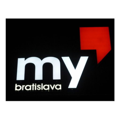 my bratislava postcard