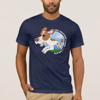 My Brittany Spaniel Loves Agility Dark T-Shirt