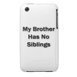 My Brother Case Case-Mate iPhone 3 Cases
