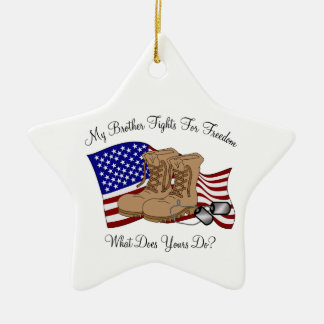 My Brother Fights For Freedom Ceramic Star Decoration